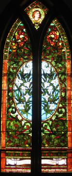 23f079a9b114 The Isaac Calhoun window on the east side at the north end
